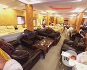 Quality 7seater Leather Sofa With a Center Table   Furniture for sale in Lagos State, Ajah