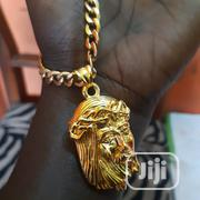 Pure 18karat Cuban Chain With Pendant | Jewelry for sale in Lagos State, Yaba
