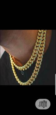 Gold Iced Cuban Necklace | Jewelry for sale in Lagos State, Surulere