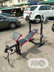 Brand New Multi Purpose Semi Commercial Weight Bench With 50kg Barbell | Sports Equipment for sale in Lagos State, Surulere