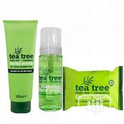Tea Tree Daily Cleansing Facial Set -(Wipes,Scrub Wash) | Skin Care for sale in Lagos State, Ojo