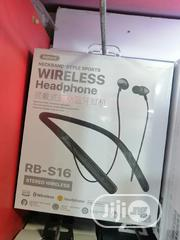 Neckband Remax Wireless Headset RB-S16 | Headphones for sale in Lagos State, Ikeja