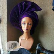 Auto Gele Purple Aso Oke | Clothing for sale in Rivers State, Port-Harcourt