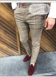 Brown Checked Design High Quality Turkish Pants Trousers | Clothing for sale in Lagos State, Lagos Island