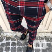 Red Checked Design High Quality Turkish Pants Trousers | Clothing for sale in Lagos State, Lagos Island