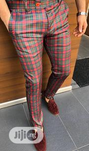 Red & Green Checked Design High Quality Turkish Pants Trousers | Clothing for sale in Lagos State, Lagos Island