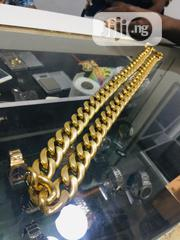 Pure Gold 18karat Cuban Chain Is Available With Affordable Price   Jewelry for sale in Lagos State, Yaba