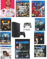 Ps4 Slim With Extra Pad And 10 Latest Games Installed   Video Game Consoles for sale in Lagos State, Ikeja