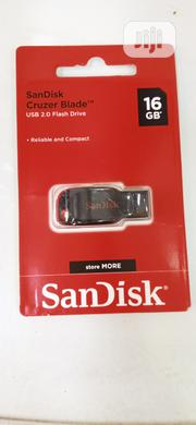 Sandisk 16GB Cruzer Blade Flash Drive - Bla | Computer Accessories  for sale in Lagos State, Ikeja