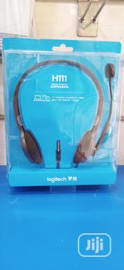 Logitech Stereo Headset H110 With Mic | Headphones for sale in Lagos State, Ikeja
