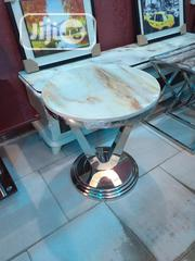 High Quality Imported Round Marble Side Stool   Furniture for sale in Lagos State, Ojo