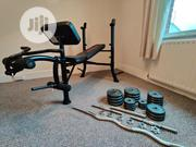 Marcy Eclipse Be1000 Barbell/ Workout Weight Bench With 50KG Weights | Sports Equipment for sale in Lagos State, Ikeja