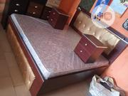 6ftx6ft High Quality Beautifully Design Bed, Mattress & 2side Cupboard | Furniture for sale in Rivers State, Port-Harcourt