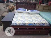 6ftx4ft High Quality Beautifully Design Bed, Mattress 2side Cupboard | Furniture for sale in Rivers State, Port-Harcourt