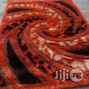 Coffee Brown Orange And Gold Shaggy Centre Rug 5 By 7   Home Accessories for sale in Lagos State, Ikeja