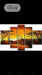 Sunset Paintings Wit Animals And People 5in1 | Arts & Crafts for sale in Rivers State, Port-Harcourt