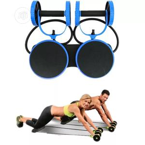 Abdominal Wheel Muscle Trainer Slimming Rollers Arm Twist Leg Double
