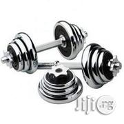 American Fitness Set of 20kg Adjustable Dumbbells -With Mobile Carrier | Sports Equipment for sale in Lagos State, Lagos Island