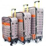 "4 Wheel Polyester Luggage|20"", 24"", 28""