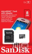 Sandisk Microsdhc Memory Card With Adapter 8gb   Accessories for Mobile Phones & Tablets for sale in Ikeja, Lagos State, Nigeria