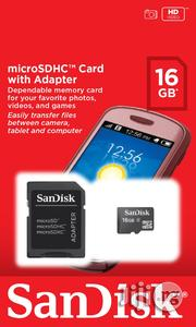 Sandisk Microsdhc Memory Card With Adapter 16GB | Accessories for Mobile Phones & Tablets for sale in Lagos State, Ikeja