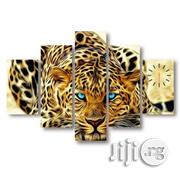 Blue Eyes Leopard Canvas Wall Art Clock | Home Accessories for sale in Lagos State, Lagos Mainland