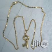 Brand New 18krt Gold Mixed Design Wit Key Pendant   Jewelry for sale in Lagos State