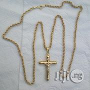 New Italy 750 Gold Twisted With Crucifix Pendant | Jewelry for sale in Lagos State
