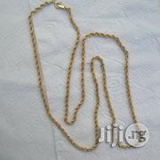 Pure 18karat Gold Necklace Twisted Design | Jewelry for sale in Lagos State