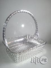 Silver Metal Gift Basket   Home Accessories for sale in Lagos State, Lekki Phase 2