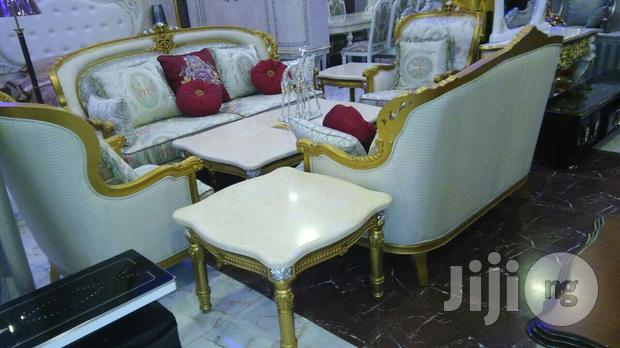 White With Golden Touch Royal Chair