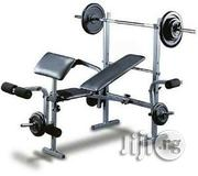 Brand New American Fitness Weight Lifting With 50kg Barbell | Sports Equipment for sale in Lagos State, Surulere