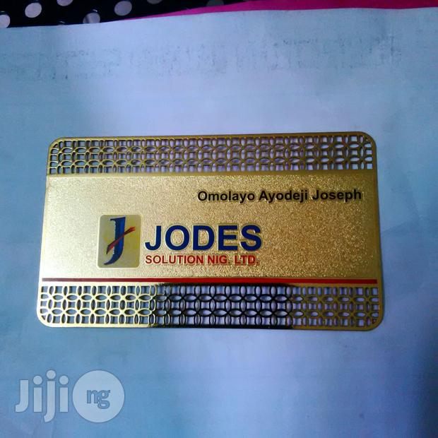 Metal Business Card Perforated
