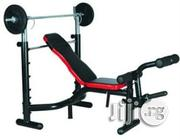 Brand New American Fitness Weight Lifting Bench With 100kg Barbell | Sports Equipment for sale in Lagos State, Surulere