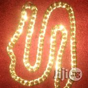 Brand Italy 750 Tested 18krt Gold Cuban Design Necklace | Jewelry for sale in Lagos State, Lagos Island