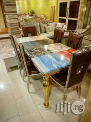 Gold Marble Dinning By 6 Set | Furniture for sale in Abuja (FCT) State, Central Business District