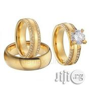 Gold Wedding Ring Engagement Ring Jewelry Set Of 3 | Jewelry for sale in Plateau State, Jos
