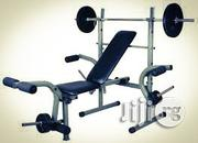 Bench Press With 50kg Barbell Rod | Sports Equipment for sale in Lagos State, Surulere
