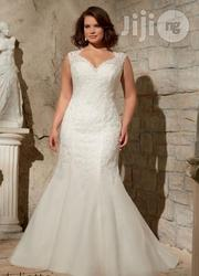 Wedding Gown With Sweetheart Neckline Fish Tail   Wedding Wear for sale in Lagos State, Lagos Mainland
