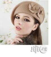 Vintage Wool Felt Flower Beret Hat- Brown | Clothing Accessories for sale in Osun State