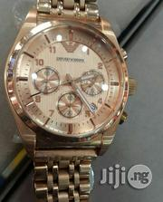 Emporio Armani Rose Gold Wrist Watch   Watches for sale in Lagos State, Lagos Island
