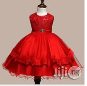 Red Ball Bow Kneelength Dress | Clothing for sale in Osun State