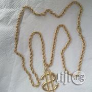 Tested 18krt Gold Twisted Design With Dolla Pendant | Jewelry for sale in Lagos State
