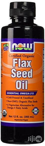 NOW Foods Flax Seed Oil, 12 Ounces (355mls) | Vitamins & Supplements for sale in Lagos State
