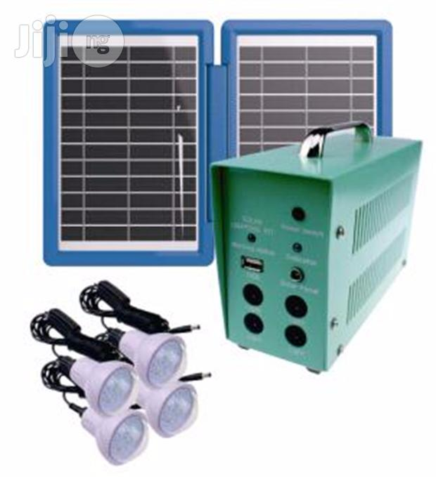 Solar System- 4 X 40W Comparable LED Lights+ AC Adapter