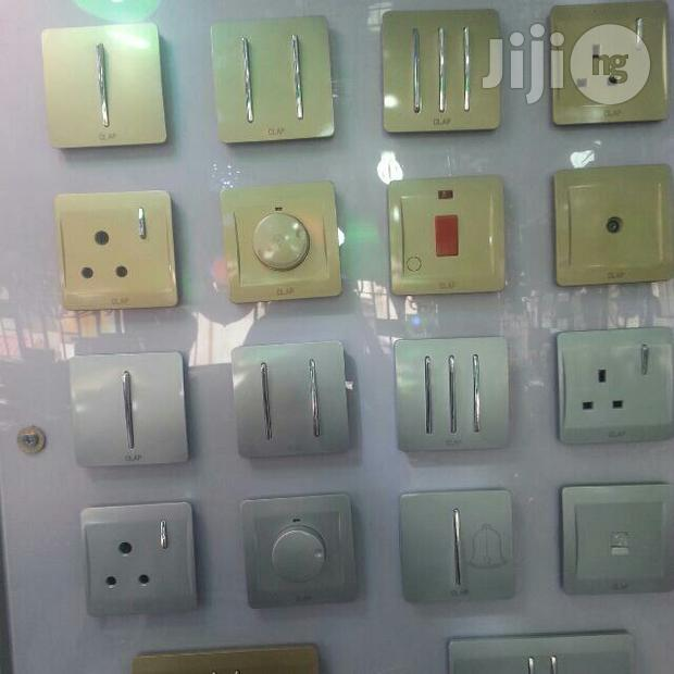 Silver And Gold Colour Switchs And Sockets