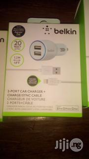 Belkin 2port Car Charger With Lightening T   Vehicle Parts & Accessories for sale in Lagos State, Ikeja