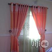 Thick Curtain Orange Color | Home Accessories for sale in Lagos State, Lekki Phase 2
