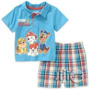 Paw Patrol Baby Boy Polo and Shorts Outfit Set,6-9m | Baby & Child Care for sale in Lagos State, Alimosho