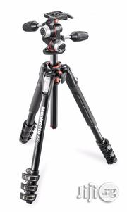 Manfrotto MT190XPRO4 Aluminum Tripod With MHXPRO-3W 3way Pan/Tilt Head | Accessories & Supplies for Electronics for sale in Lagos State, Ikeja